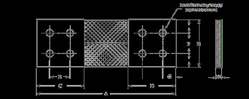 Flexible Four-Hole Shunt